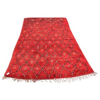 Red Vintage Moroccan Rug - 5′5″ × 9′2″