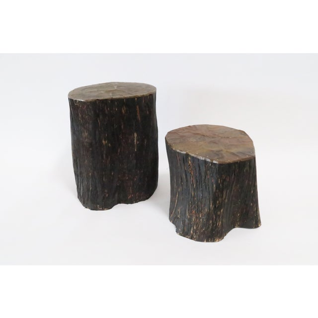 Image of Copper Log Bookends - A Pair