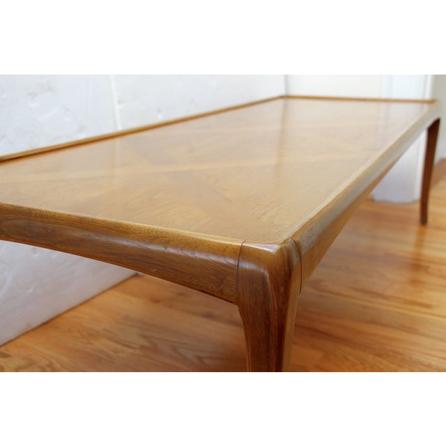 Mid-Century Thomasville Walnut Coffee Table - Image 6 of 9