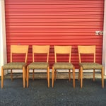 Image of Mid Century Dining Chairs JB Van Sciver - Set/6