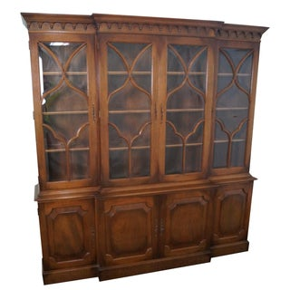 1940s Chippendale Breakfront with Beveled Glass