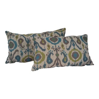 Chenille Ikat Lumbar Pillows- A Pair