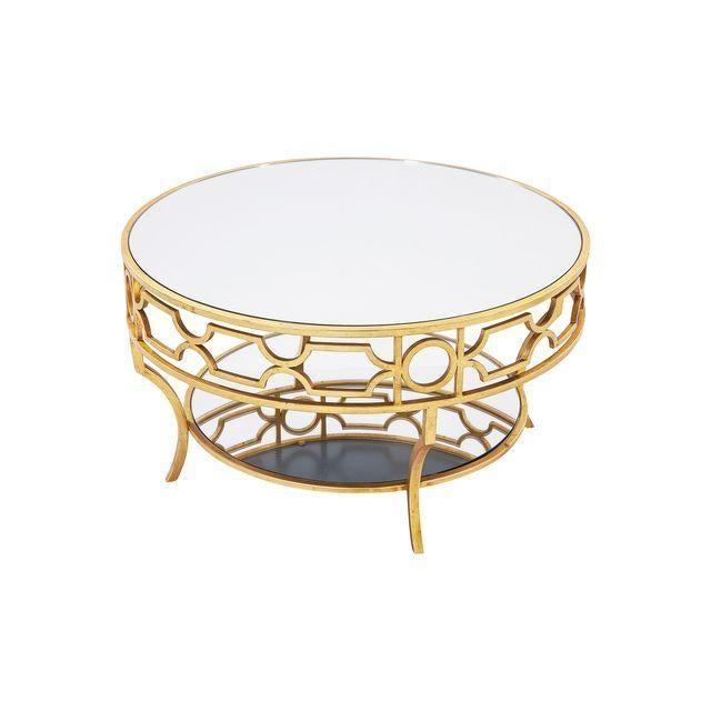 Verona Mirror Top Round Coffee Table Chairish