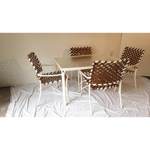 Tropitone Brown & White Outdoor Patio Set - Set of 5 - Image 4 of 11