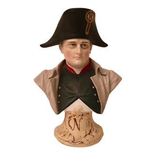 German Meissen Hand-Painted Napoleon Sculpture Bust