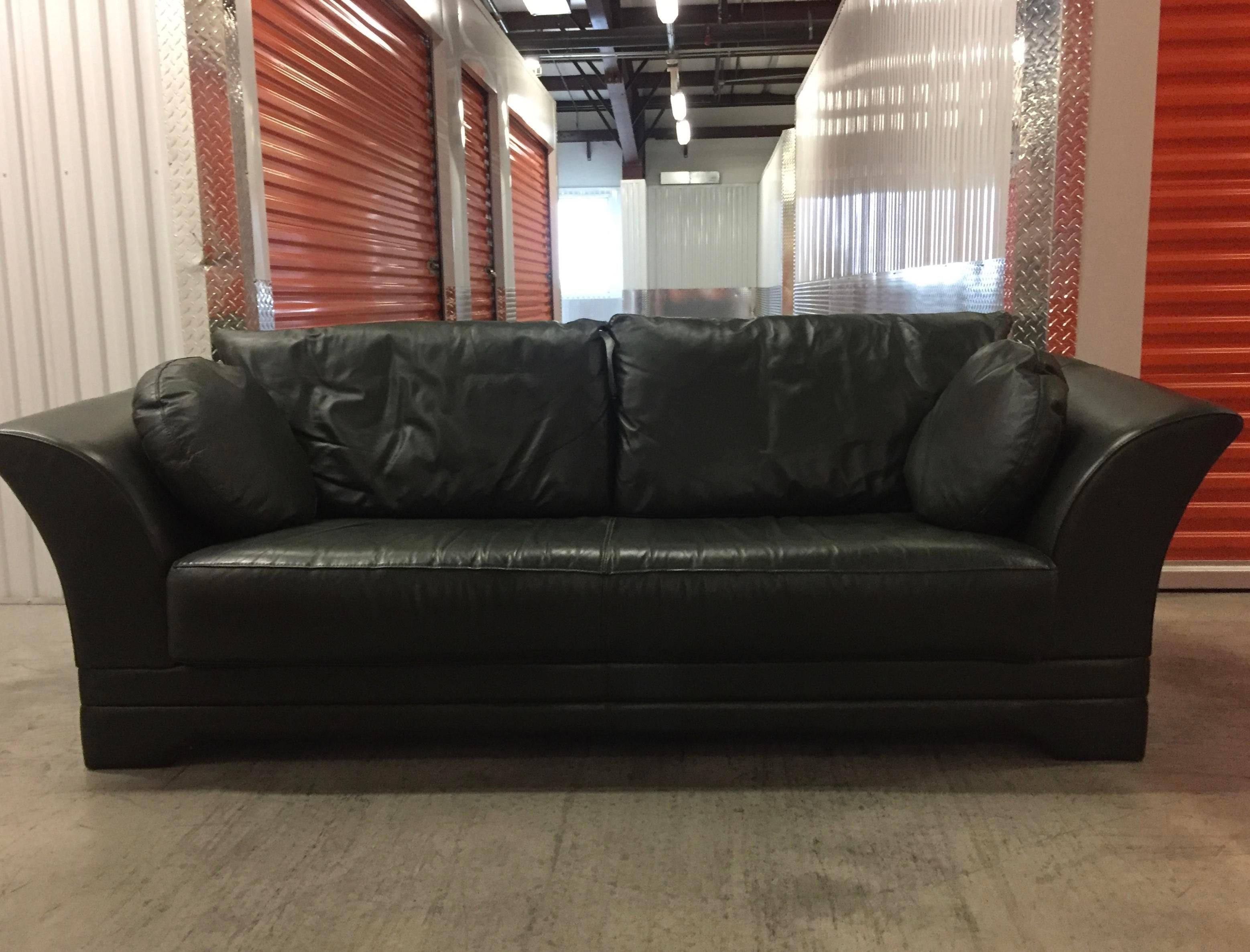 molinari italian leather sofa image 2 of 7