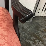 Image of Antique Upholstered Chippendale Settee