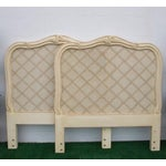 Image of Vintage French Provincial Cane Headboards - A Pair