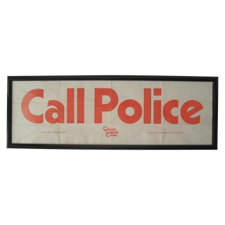 Framed Call Police Sign