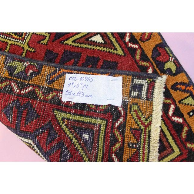"Turkish Oushak Doormat Rug - 1'9 X 3'9"" - Image 8 of 8"