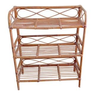 Vintage Boho Bamboo Wood Shelves