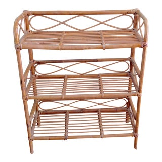 Vintage Boho Bamboo Wood Shelves