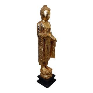 Hand Carved Hardwood Thai Gold Buddha