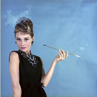 """Audrey Hepburn as Holly Golightly in """"Breakfast at Tiffany's"""" 1961 Print"""