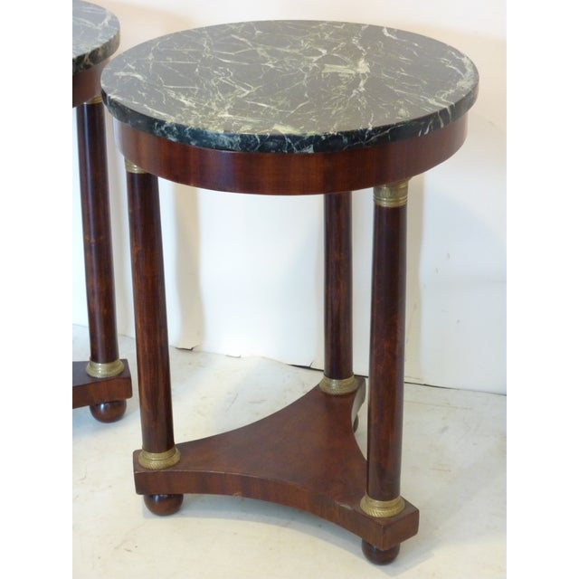 Image of French Empire-Style Side Tables - A Pair