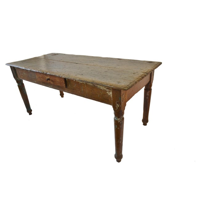 19th Century Cedar Farm Table - Image 4 of 4