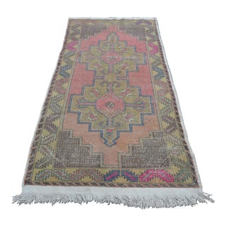 Turkish Oushak Faded Rug - 3′9″ × 7′11″
