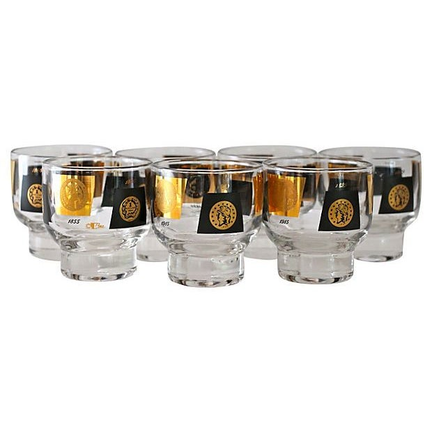 Cera Coin Glasses - Set of 7 - Image 2 of 4