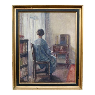 Interior With Woman by Laura Sarauw