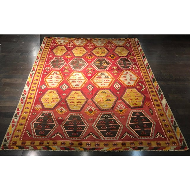 "Bellwether Rugs Vintage Turkish Kilim Rug - 8'8"" x 11'2"" - Image 2 of 9"