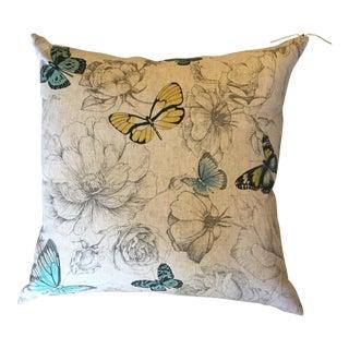Custom Butterfly Motif Pillow