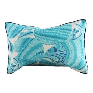 Swirl Print Outdoor Throw Pillow