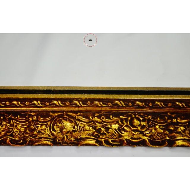 Vintage 1964 Gold Gilt Gesso Framed Wall Mirror - Image 5 of 9