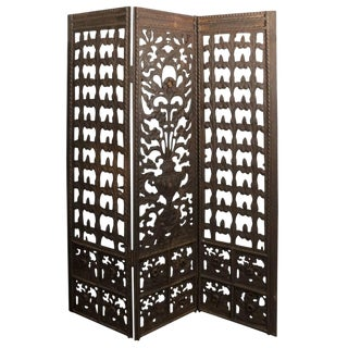 Antique Wrought Iron Screen