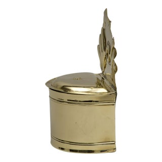 Rare Dutch Brass Salt Box, Circa 1790