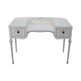 French Louis XVI Style Dressing Table Vanity