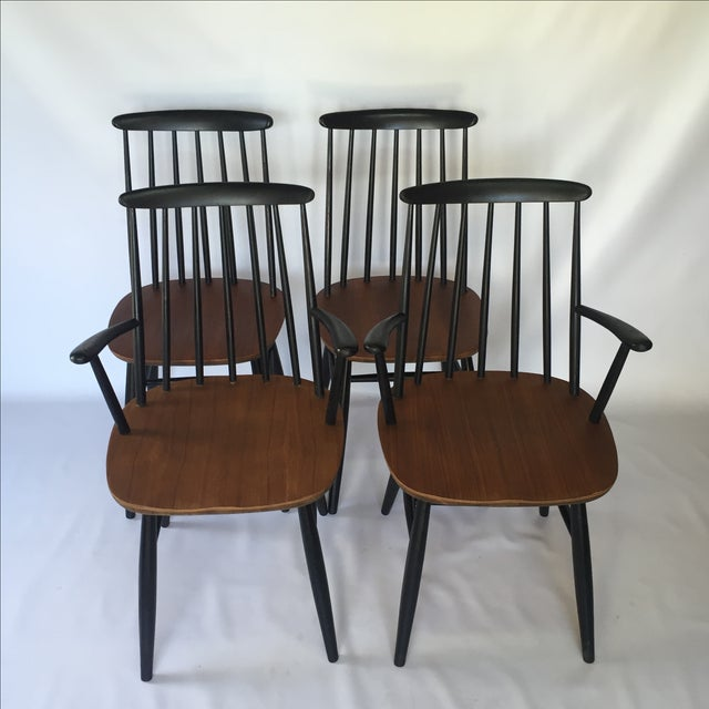 Tapiovaara-Style Dining Chairs - Set of 4 - Image 2 of 6