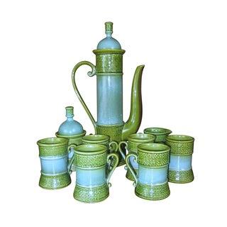 Mid-Century Ceramic Moroccan Style Teapot Service