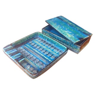 Londi Bittosi Rimini Blue Ashtray & Cigarette Box