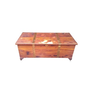 Pine Hope Chest with Brass Trim & Nailheads