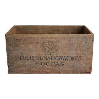 Vintage Wooden Cognac Crate