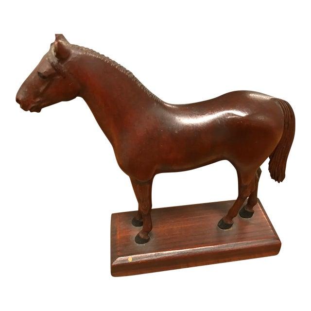 Vintage Carved Wooden Horse - Image 1 of 3