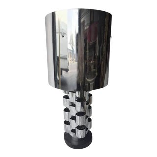 Curtis Jere Brutalist Polished Chrome Table Lamp