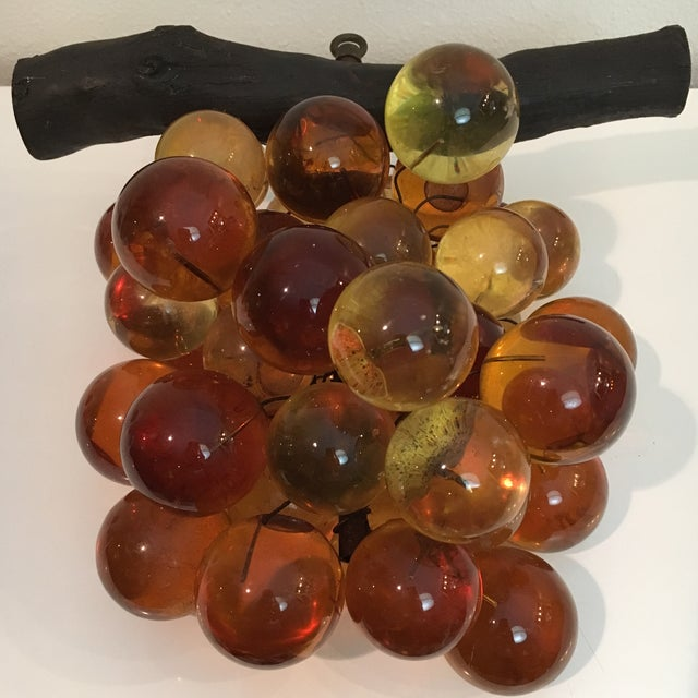 Oversized Vintage Lucite Amber Grapes - Image 7 of 7