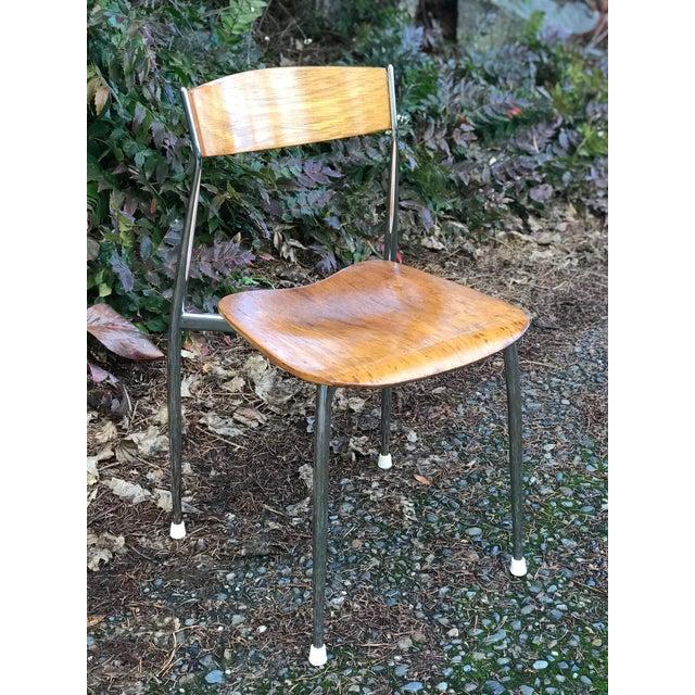 Bernhardt Mid-Century Chrome Dining Chairs - Set of 4 - Image 4 of 6