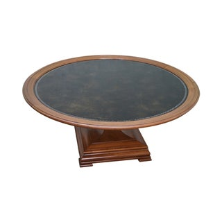 Heritage Mahogany Leather Top Coffee Table