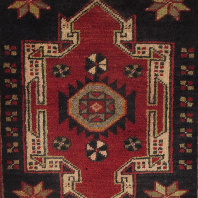 Geometric Medallions Yastik   1'8 x 3' Turkish Carpet - Image 2 of 2