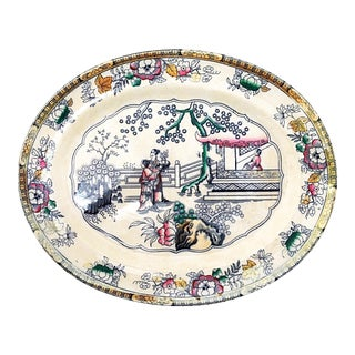 Large 19th-C. Platter by H & C
