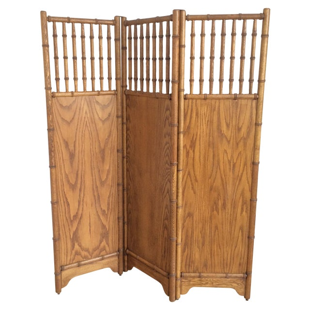Image of Vintage Faux Bamboo Screen