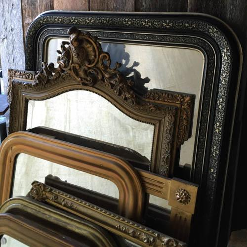 Image of Very Large French Louis Philippe Style Mirror