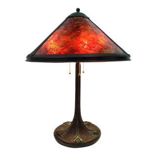 1890s Art Nouveau Lamp
