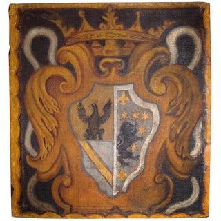 18th c., Painted Italian Crest