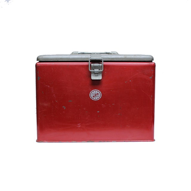 Vintage Industrial Icy Hot Cooler - Image 2 of 4