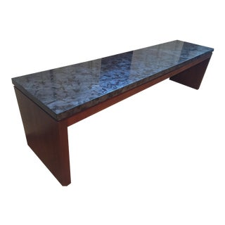 Custom Gray Marble Bench
