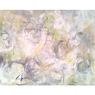 "Trixie Pitts ""Into the Mystic"" Neutral Abstract Painting"