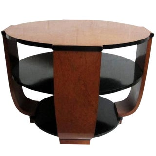 French Art Deco Burlwood Coffee or Centre Table